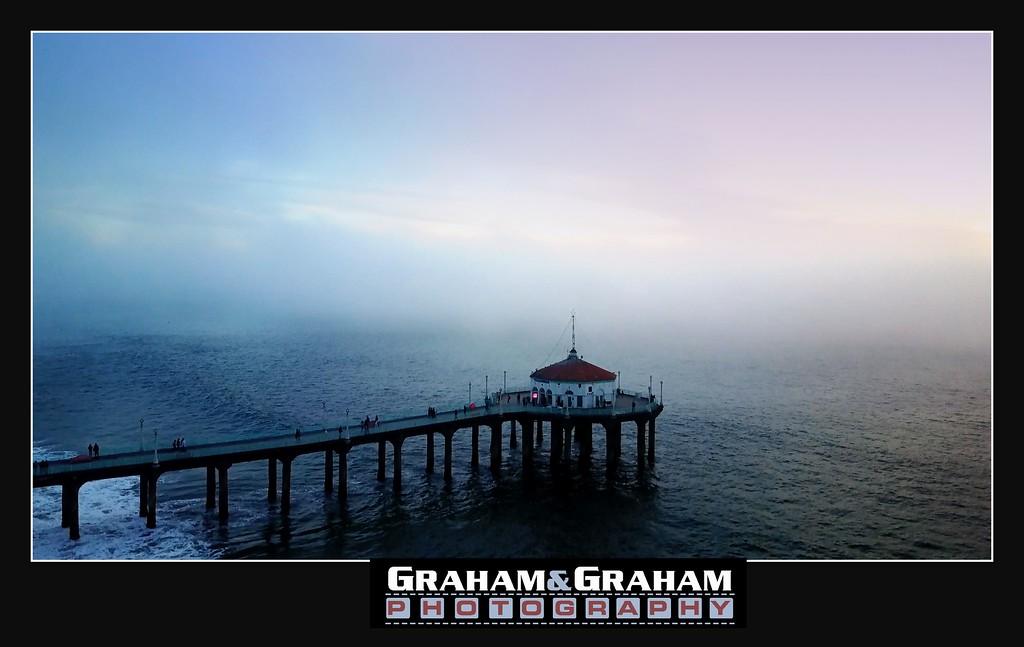 Manhattan Beach Pier from the sky