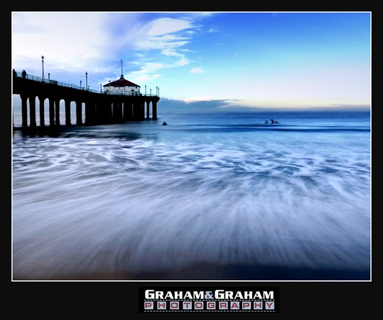Manhattan Beach Pier, waves