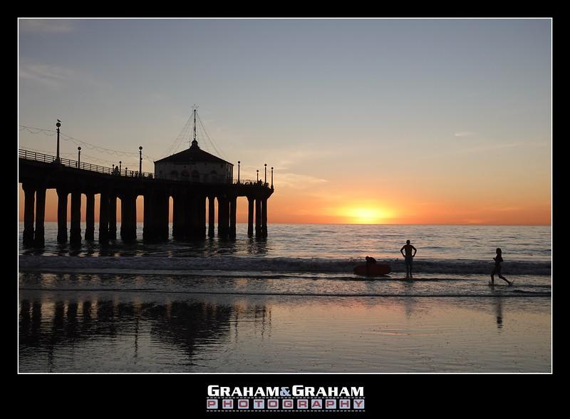 Sunset by the Manhattan Beach Pier