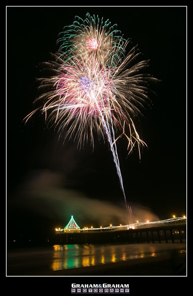 Fireworks over Manhattan Beach Pier 12/10/17