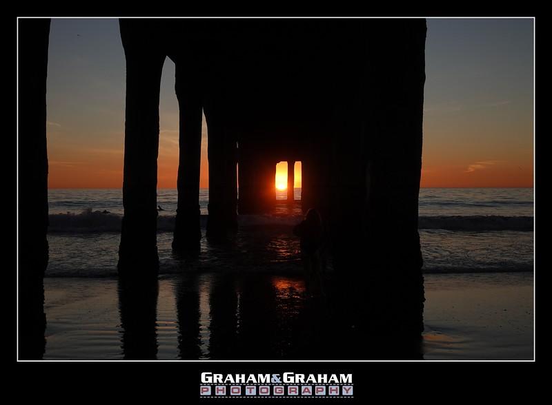 Under the Manhattan Beach Pier @ Sunset