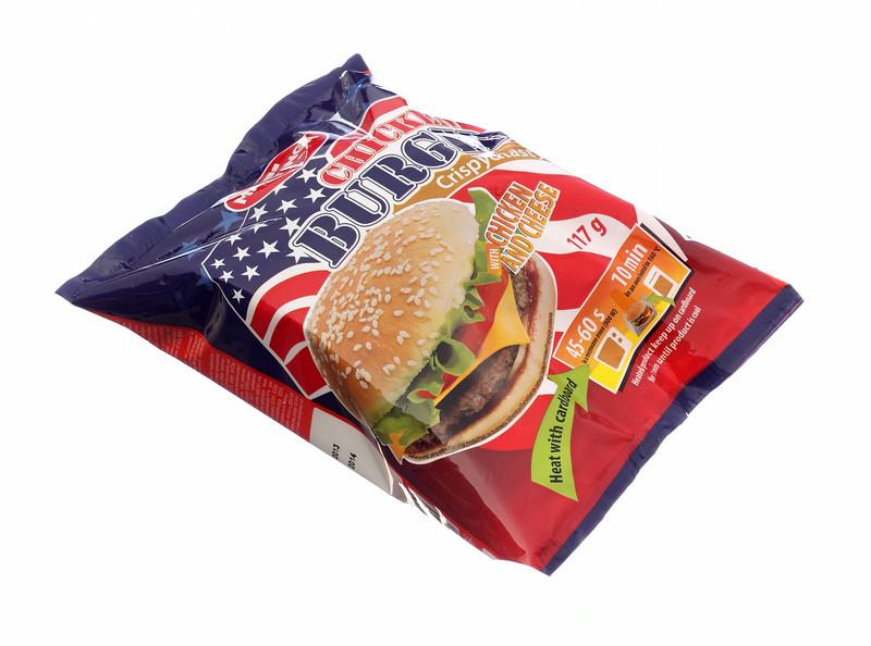 125799MANTINGA Kana-juustuburger 117g10tk