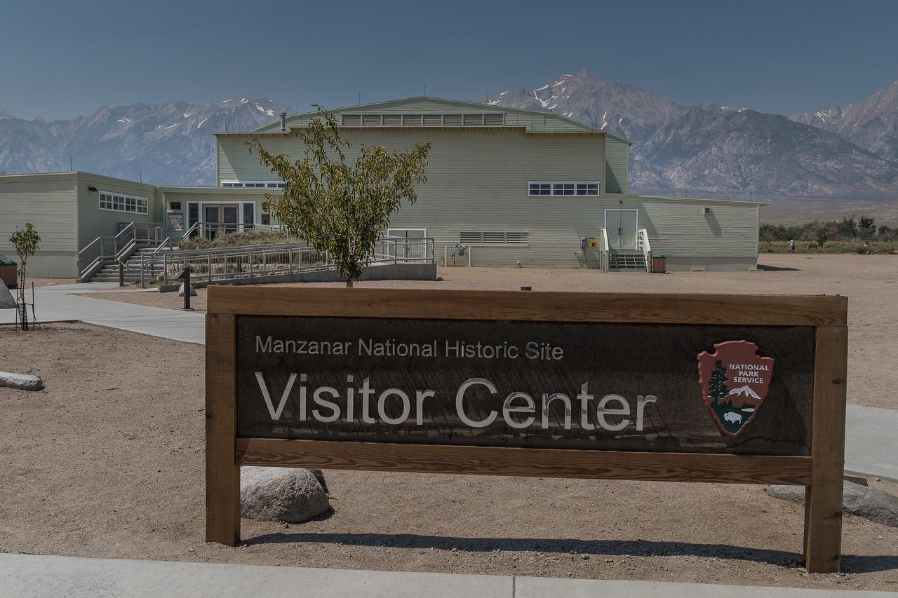 Manzanar Visitor Center along Highway 395
