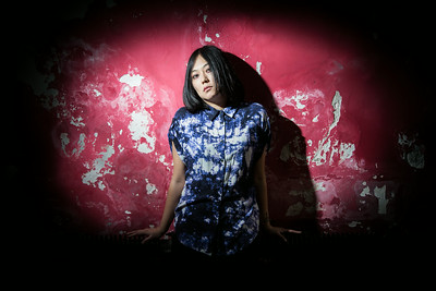 Helen Feng, lead singer for Nova Heart, poses for a portrait in Yugong Yishan.