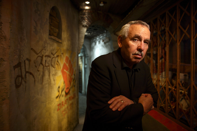 "Former CIA agent Tony Mendez, shown in ""Khandar"", a special Middle Eastern exhibit within the Spy Museum in Washington, DC"