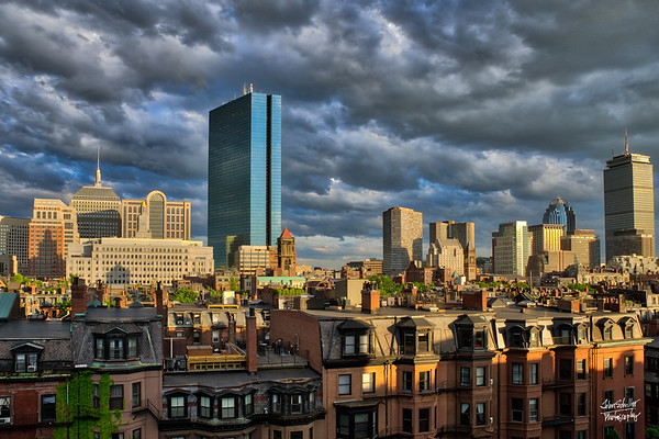 Boston Cloudy Sunset