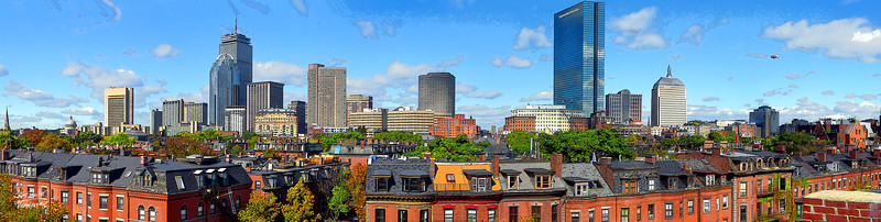 Boston Skyline from South End