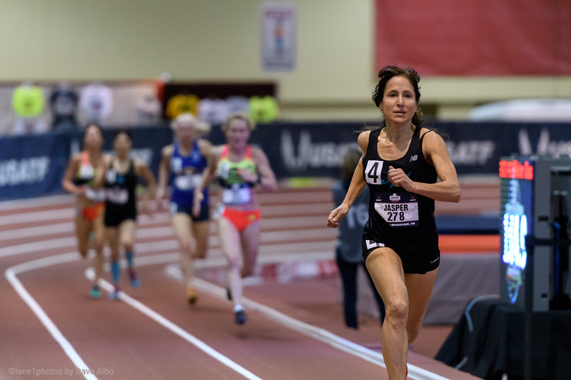 Lorraine Jasper pulls away and sets an American record 400 meters.