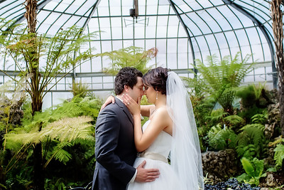 Bride and Groom Belle Isle Conservatory   Rayan Anastor Photography   Detroit Wedding Photographer