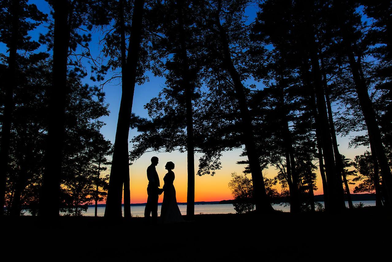 Bowers Harbor Vineyard Mission Table Sunset Portrait   Rayan Anastor Photography   Traverse City Wedding Photographer