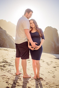 Maternity Photography Baker Beach San Francisco California