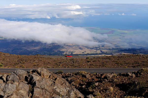 The road from the summit of Haleakala to Kahului