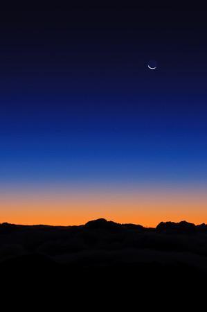 Haleakala sunrise begins
