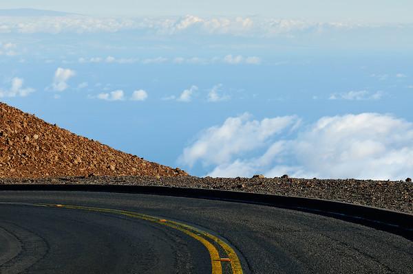 Road up Haleakala volcano