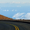Road up Haleakala volcano