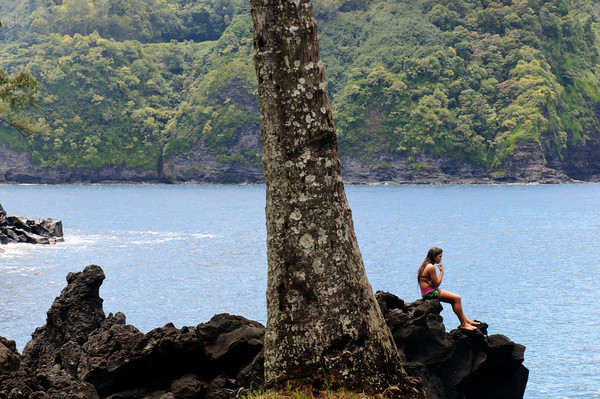 A young girl at Keanae
