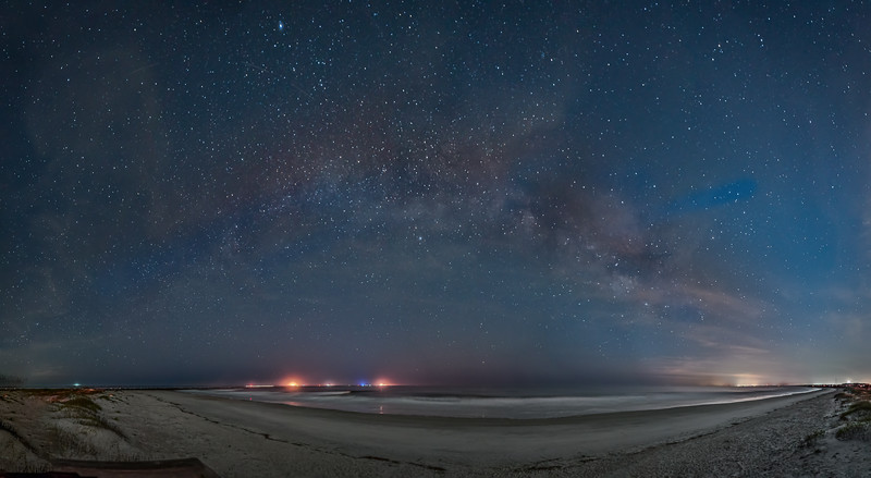 Stars Above an Empty Beach