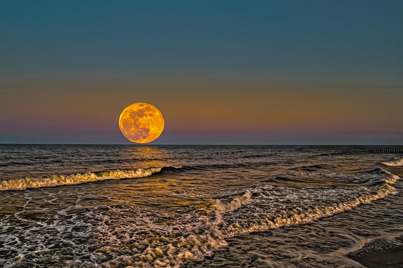 Belt of Venus with Moon Rise
