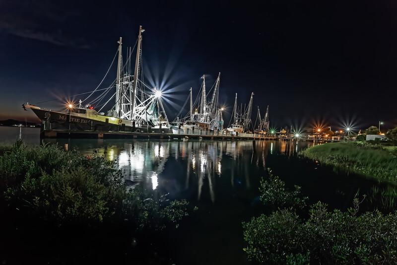 Shrimp Boat Pier Night