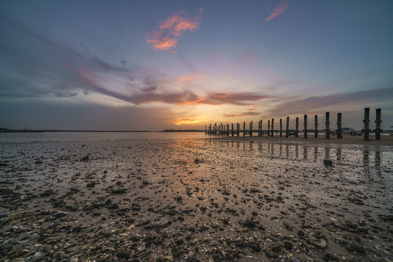 St. Johns River Low Tide Sunset Reflection