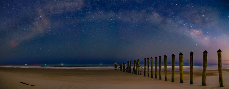 Milky Way over Naval Station Poles