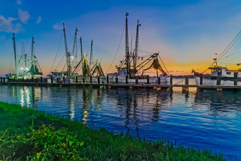 Shrimp Boat Pier at Sunset