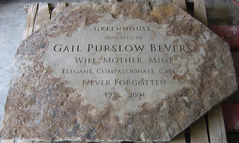 Gail Bevers Memorial