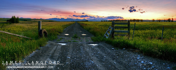 """Sunset Along the Front Range""  Rocky Mountains, MT  It's always amazing thing things that you can almost miss seeing.  As I was returning from a photo shoot up near Glacier Park, I saw this scene out of the corner of my eye.  I quickly turned around, and was able to capture this image just as the last light of the sun was in the sky. Want to buy a print of this image?  Click Here!"
