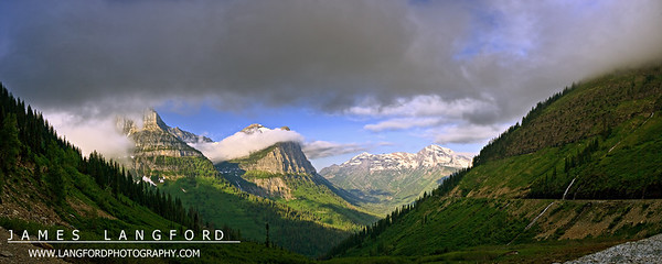 """""""The Garden Wall""""  Glacier National Park, MT  Logan's Pass is probably one of my favorite areas of Glacier National Park.  The stark mountains contrasted with the green lush valleys is just incredible to see.  This area of the park is just to the West of the top of the pass. Want to buy a print of this image?  Click Here!"""