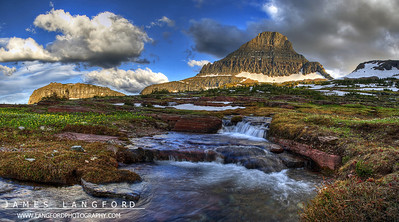 """""""Garden of the Gods""""  Glacier National Park, MT  I really love visiting Glacier.  It's different everytime I go.  On this trip, the East side of the park was almost completely covered in fog.  As I drove over Logan's Pass from St Mary Lake, I found the West side of the Park clear.  The amazing fog was rolling off the tall mountains like water. Want to buy a print of this image?  Click Here!"""