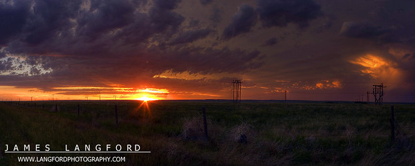"""""""At the Day's End""""  Fort Benton, MT  In the summer in Montana, the days become very long.  I think this helps to counter the very short and cold days in the winter.  At some point, though, the day must end.  On this day, it ended with a glorious sunset. Want to buy a print of this image?  Click Here!"""