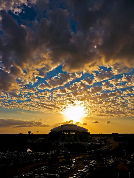 #CM203 Sunset over Cowboy Stadium