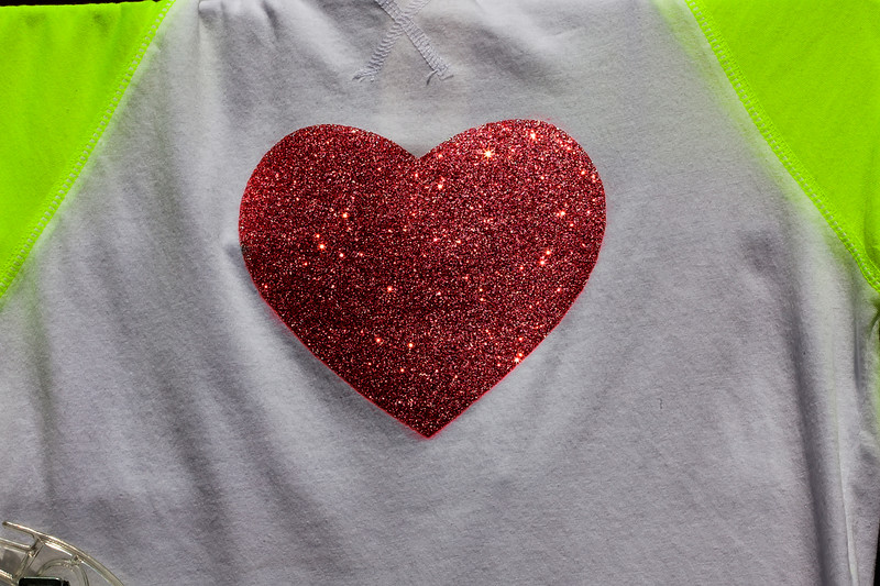 wearing your heart on your chest