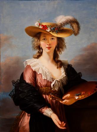 Louise Elisibeth Le Brun  (self portrait, National Gallery, London, XVIII