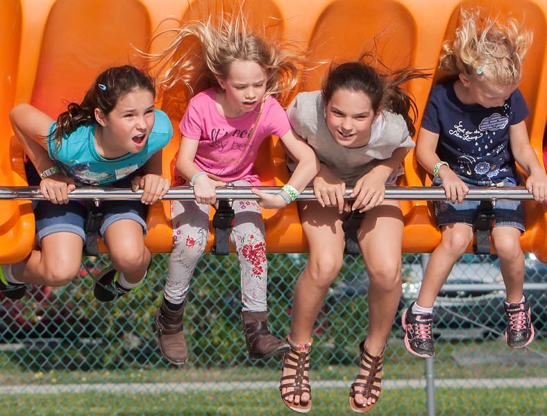Girls Swinging