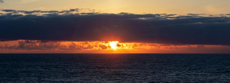 Sunset, mid Atlantic Ocean