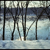 Ice Forming on the Flowing Wisconsin River on a Very Cold January Day