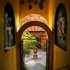 Entrance and courtyard, Casa de la Questa, San Miguel