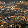 Colorful houses, sunrise, Guanajuato