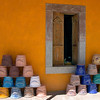 Display outside ceramic store near Guanajuato, Mexico