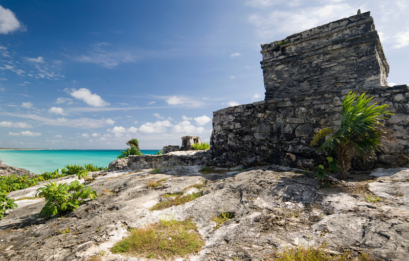"El Castillo, Tulum - Mexico<br /> <br /> Tulum, the because it faces the sunrise, is known as the ""City of Dawn"". El Castillo stands on a bluff facing east towards the Caribbean, and has been dated back to 1600AD. A thriving trade port for both land and sea routes, it was abandoned completely by the end of the 16th century due to Old World diseases brought by Spanish settlers."