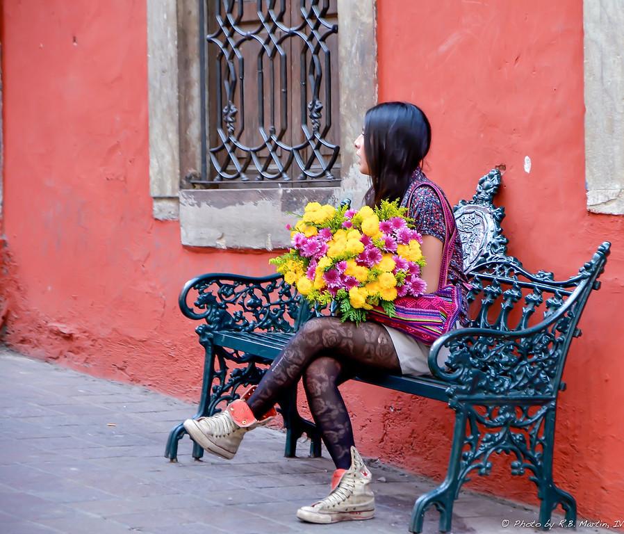 Senorita with Flowers