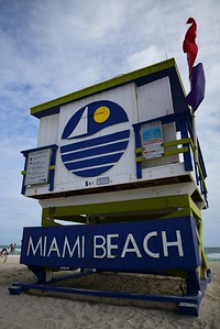 Miami Beach - Life Guard Station Art