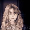 Portrait of a beautiful little girl in dress