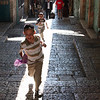 Jerusalem, twin Jewish boys running towards the Arab Market. (July 2009) © Copyrights Michel Botman Photography