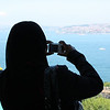 Woman in chador overlooking the Bosphorus from the Topkapi Palace, Istanbul (June 2009) © Copyrights Michel Botman Photography