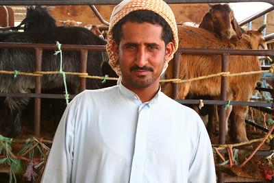 Goat merchant, Al Ain, UAE
