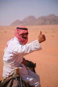 Camel taxi driver, Wadi Rum, Jordan