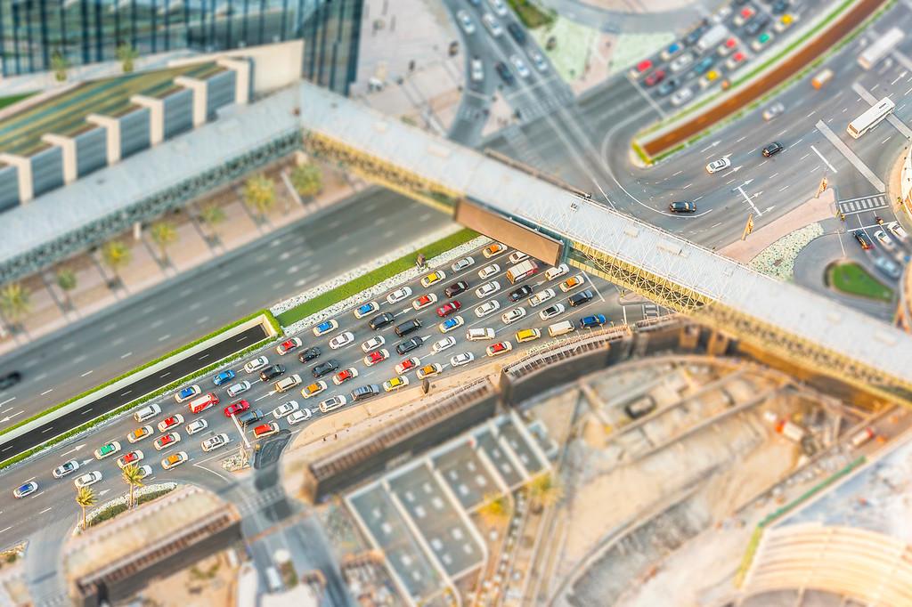 Cars from Burj Khalifa - Dubai, UAE