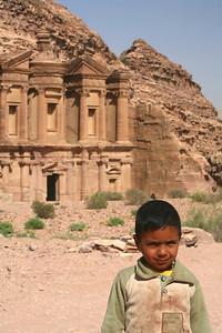 Bedouin boy in front of Monastery, Petra, Jordan